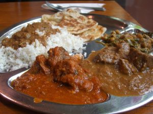 Delicious food from one of the Indian restaurants in Greenwich