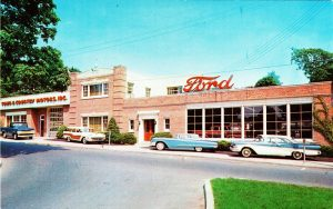 A 1958 photo of Ford Motors, a reminder from Greenwich history