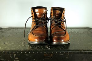 Pair of boots at Brooks Brothers in Greenwich CT