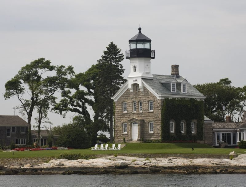 View of the Sheffield Island Lighthouse