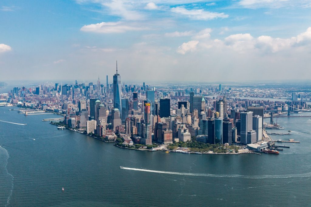 View of Manhattan on weekend getaways from NYC