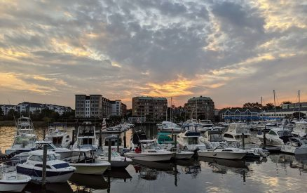 sunset at Harbor Point, one of the best things to do in Stamford, CT
