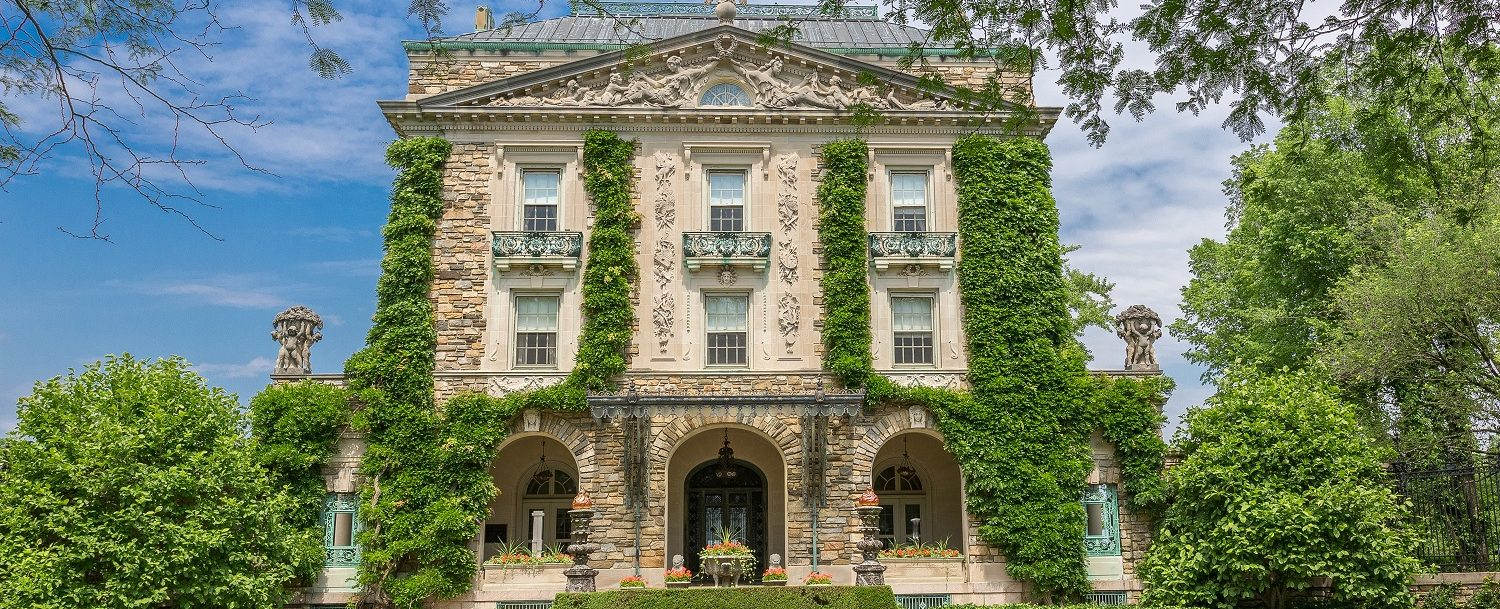 View of the mansion at Kykuit the Rockefeller Estate