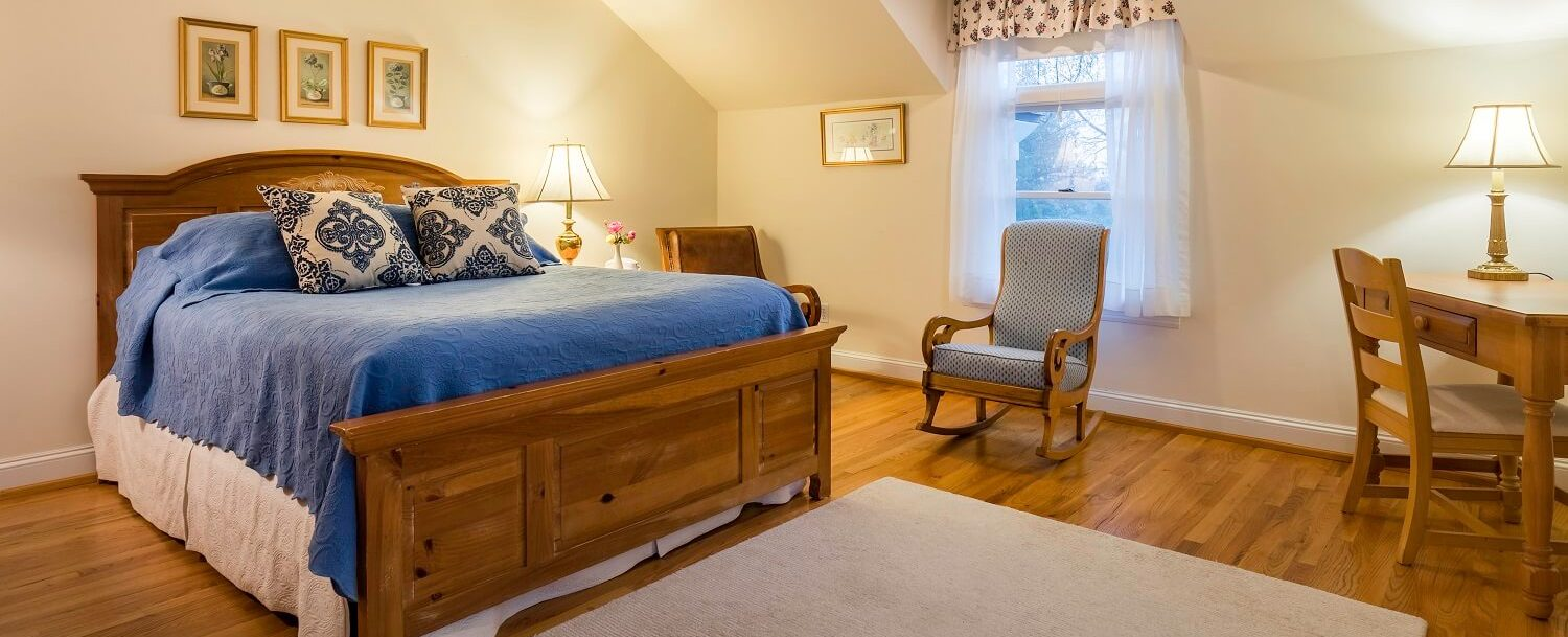 Room 32, king bed in our bed and breakfast near Westchester County, NY