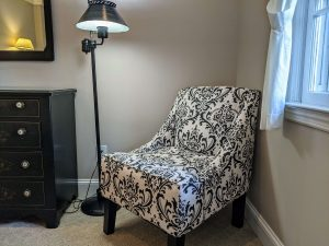 Reading nook in Room 18