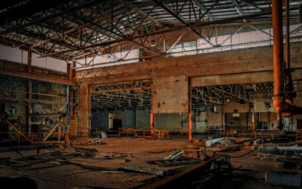 an abandoned factory, one of the most haunted places in CT