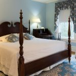 King size bed in Room 27 at the Stanton House Inn