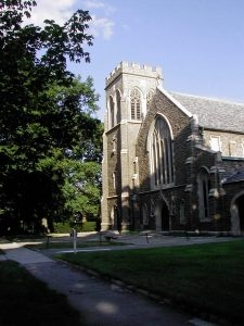christ church in the putnam hill historic district in downtown greenwich ct