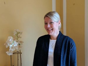 Anette Horan, Tea Room Manager at Stanton House Inn, a Greenwich, CT, bed and breakfast inn