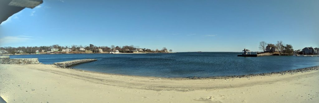 beach at byram beach park, one of the best beaches near greenwich ct