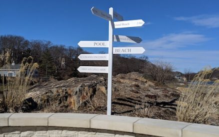 park sign at byram beach park, one of the best beaches near greenwich ct