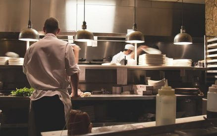 view of the kitchen at one of the best downtown greenwich ct restaurants