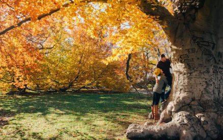 couple enjoying CT fall foliage