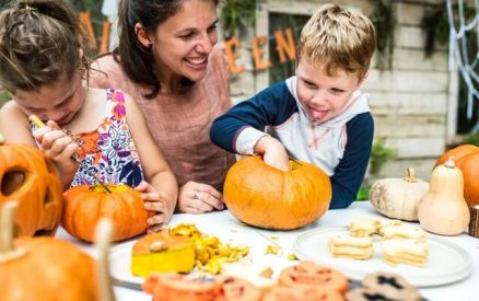 family enjoying fall activities at a family-friendly fall festival in CT