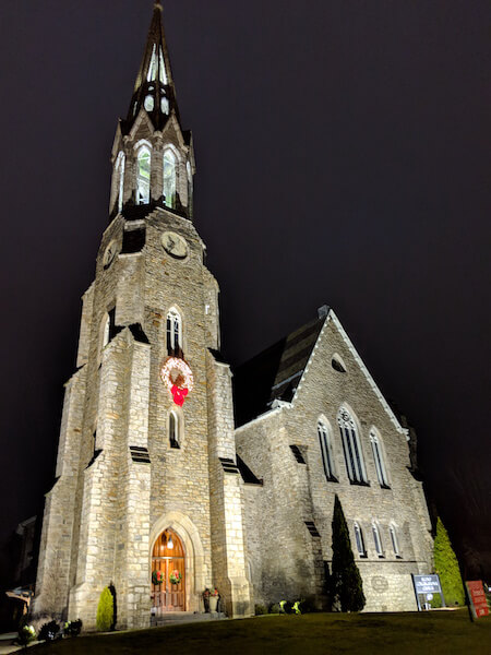 second congregational church in greenwich, ct at christmas