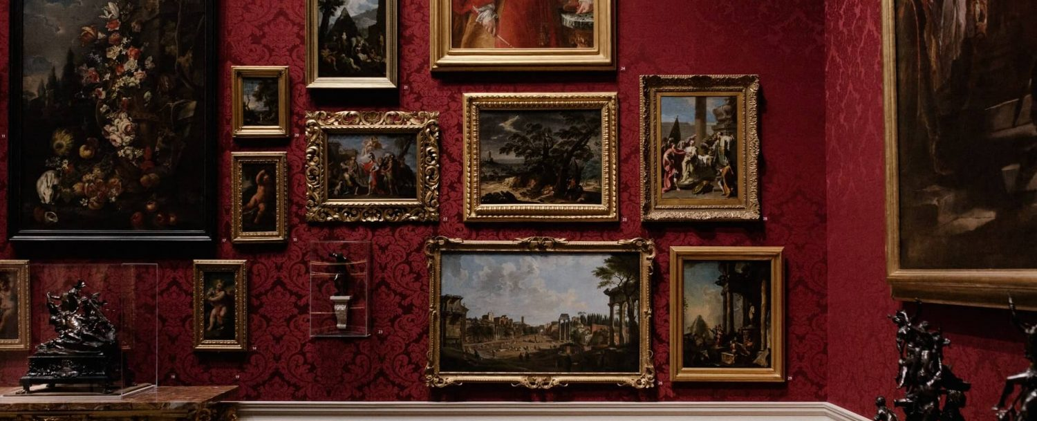 wall of art at one of the best museums in connecticut