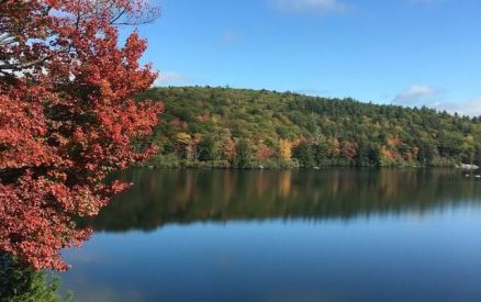 lake during fall in CT