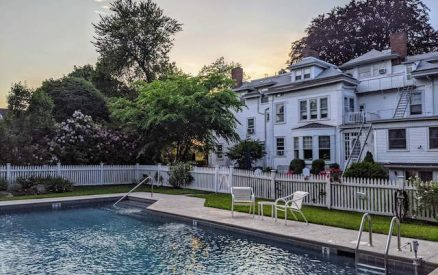 outdoor pool at stanton house inn, one of the greenwich ct hotels