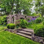 Garden ruins in the back of Stanton House Inn