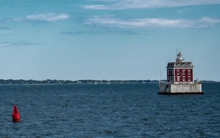 lighthouse in new london's harbor in new london county