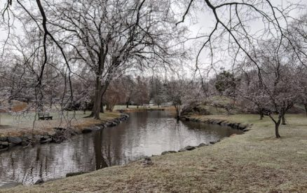 walking around bruce park pond is one of the best things to do in greenwich ct in winter