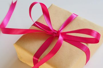 ct bed and breakfast gift certificates inside a wrapped present