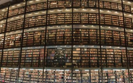 The stacks at Beinecke, one of the most unique things to do in southern CT