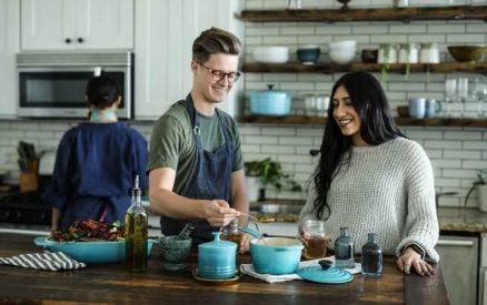 couple enjoying a cooking class