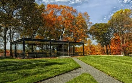 Philip Johnson's Glass House in New Canaan, CT