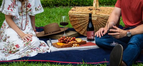 picnic on the grass, one of many date ideas in CT
