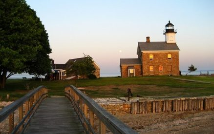 Sheffield Island lighthouse, a clambake here is one of the most unique things to do in southern Connecticut