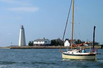 lighthouse in old saybrook, one of the most romantic getaways and places in CT