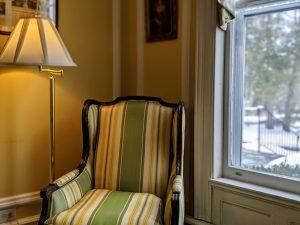 One of the reading nooks in the living room of Stanton House Inn