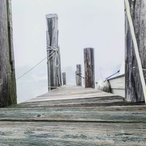 an old dock in Mystic, Connecticut