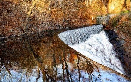 Yantic Falls in Norwich, close to Mystic, Connecticut