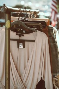 used clothing for sale at one of the best flea markets in CT