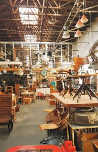 one of the flea markets in CT housed in an industrial warehouse