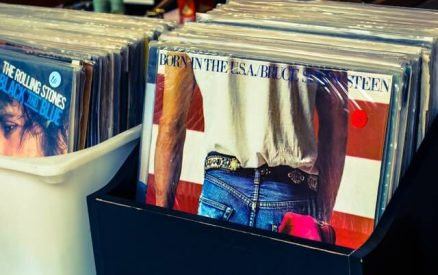 famous vintage records at one of the best flea markets in CT