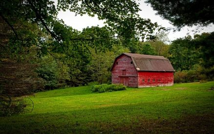 Red barn in New Hartford, Connecticut