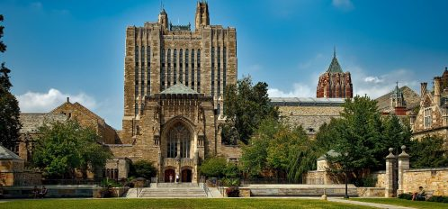 Sterling Memorial Library on the campus of Yale University, one of the best things to do in New Haven, CT