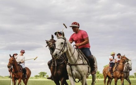 A polo match at the Greenwich Polo Club