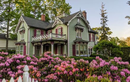 a historic home in downtown Ridgefield, CT